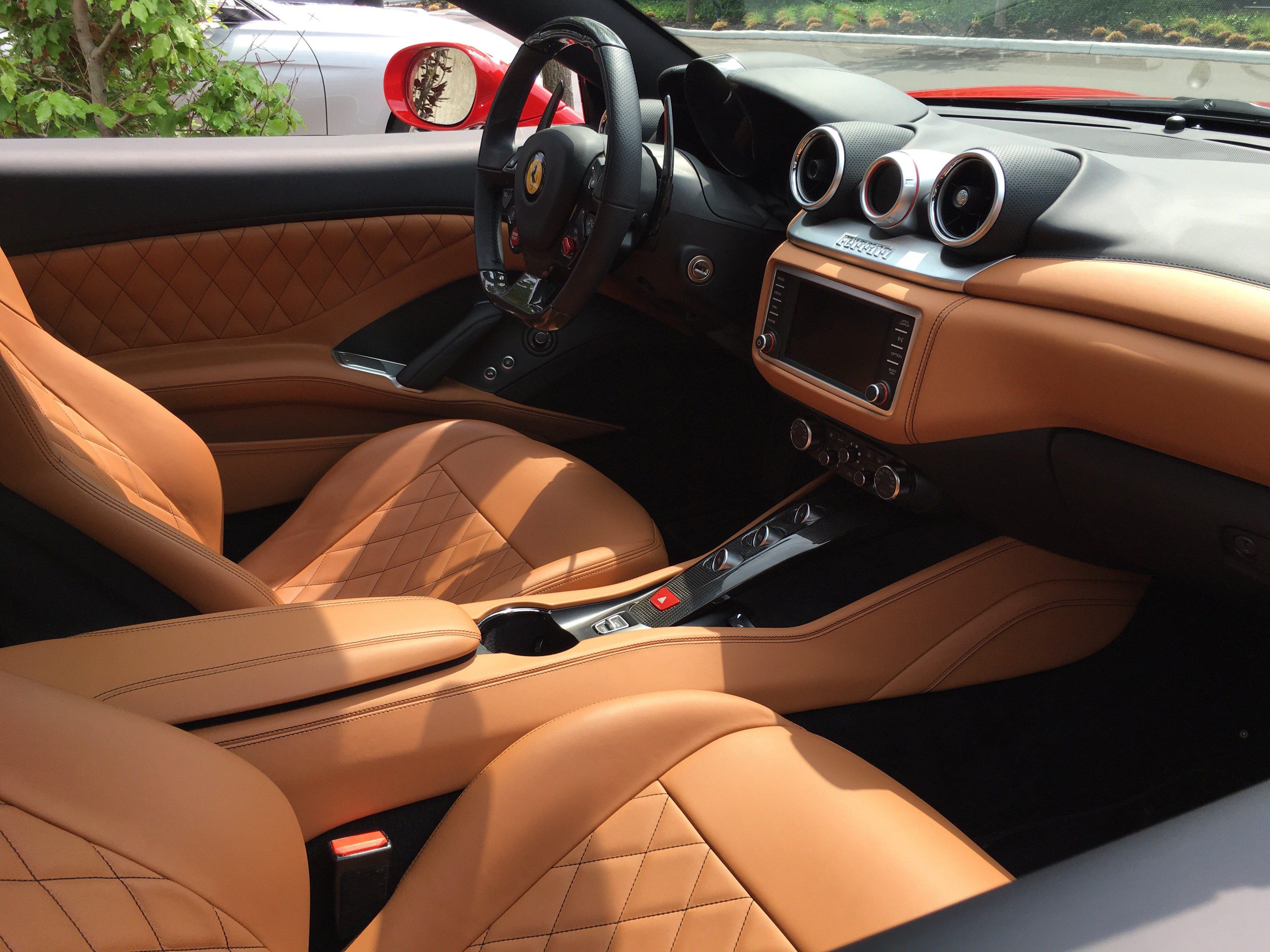 Interior of a Ferrari California T - LK Wealth Management